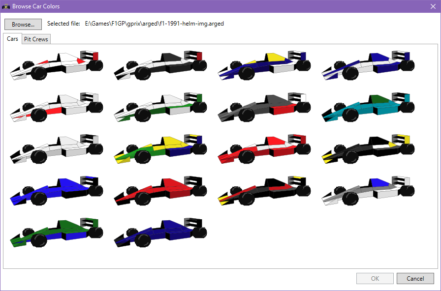 Browse car colors screenshot
