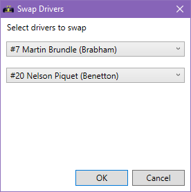 Swap drivers screenshot